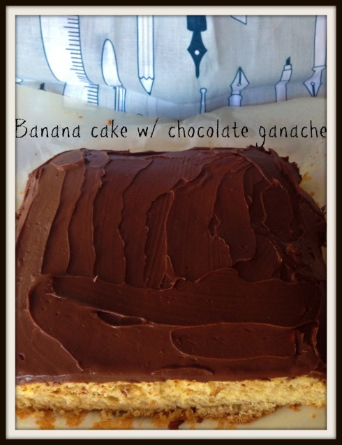 Banana cake with chocolate ganache  The Hungry Mum