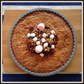 Chocolate brownie tart