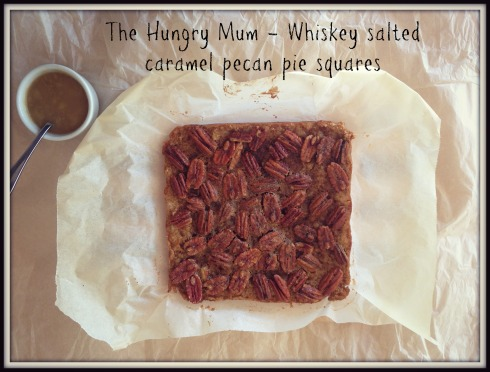 Whiskey salted caramel pecan pie squares 2