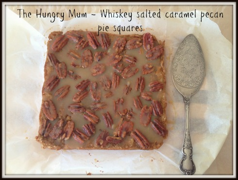 Whiskey salted caramel pecan pie squares 4