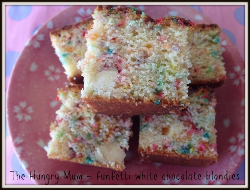 Funfetti white chocolate blondie