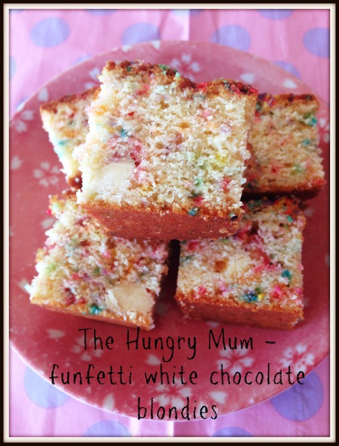 Funfetti white chocolate blondies