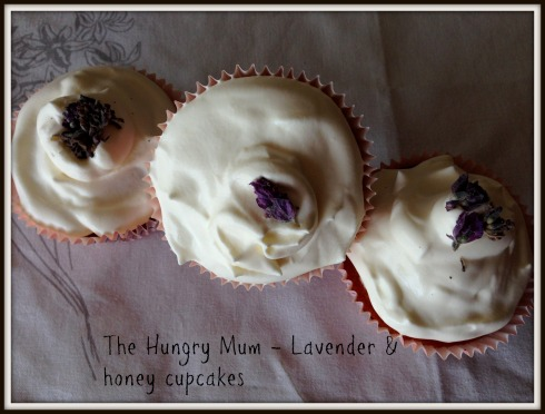 The Hungry Mum - Lavender & honey cupcakes3