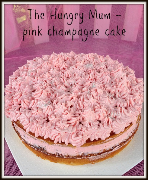 pink champagne cake - The Hungry Mum