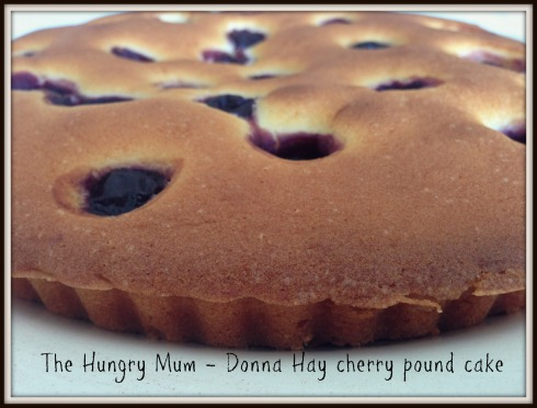 The Hungry Mum - Donna Hay cherry caradomom pound cake