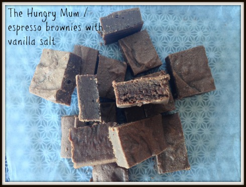 The Hungry Mum - espresso brownies w vanilla salt