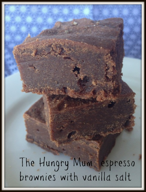 The Hungry Mum . espresso brownies with vanilla salt
