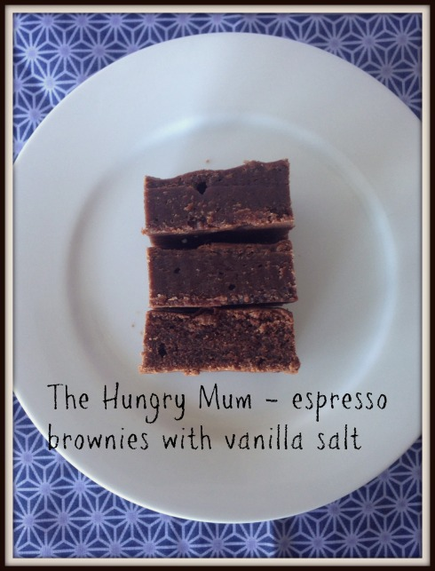 The Hungry Mum - espresso brownies with vanilla salt