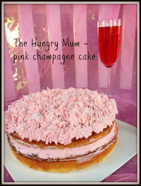 The Hungry Mum - Pink champagne cake