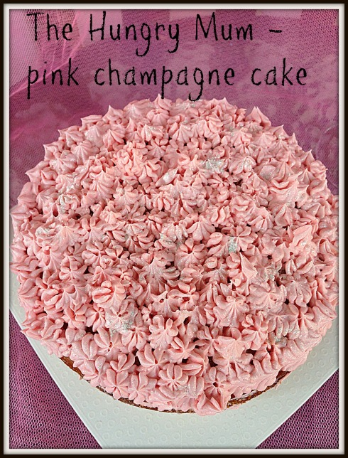 The Hungry Mum pink champagne cake