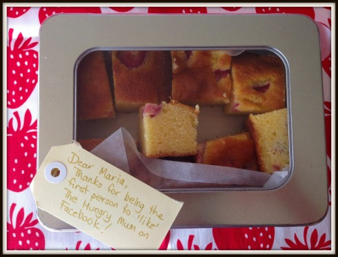white chocolate & strawberry blondies - The Hungry Mum