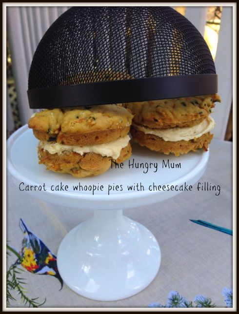 Carrot cake whoopie pies with cheesecake filling. The Hungry Mum