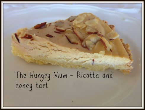 Ricotta and honey tart. The Hungry Mum