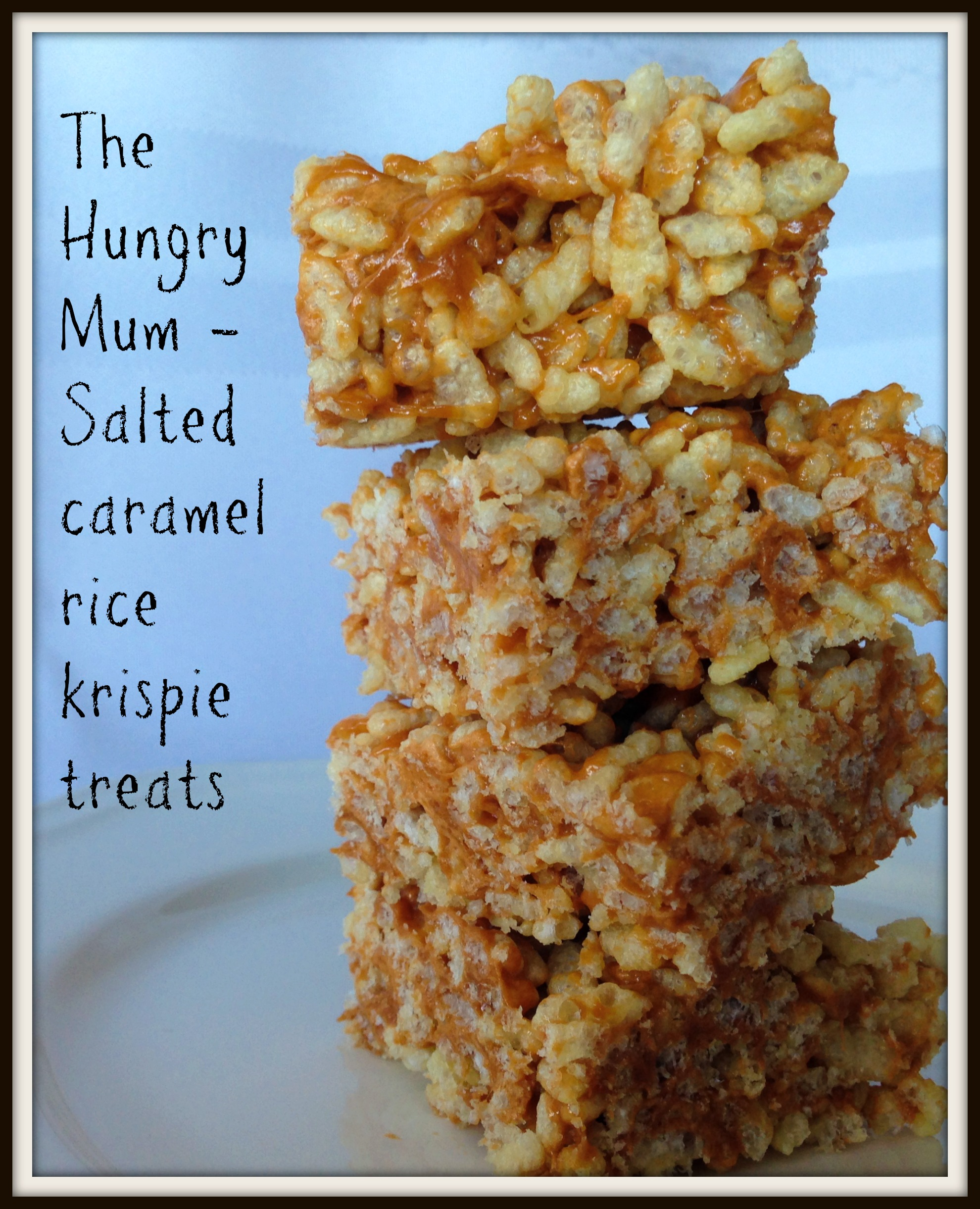 Brown butter rice crispy treats / salted caramel rice crispy squares ...