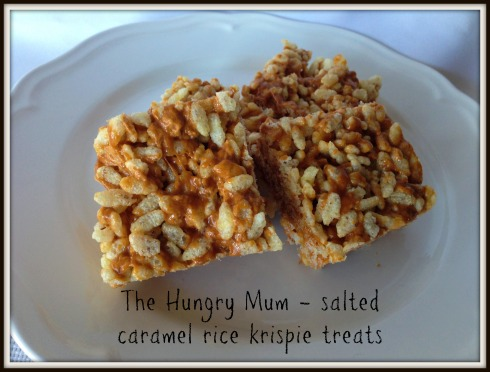Salted caramel rice krispie treats - The Hungry Mum -