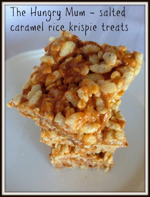 -Salted caramel rice krispie treats