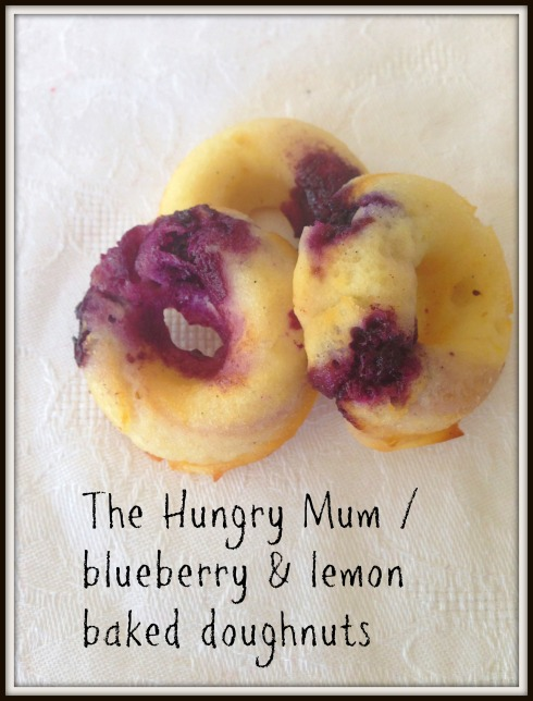 The Hungry Mum  blueberry and lemon baked doughnuts