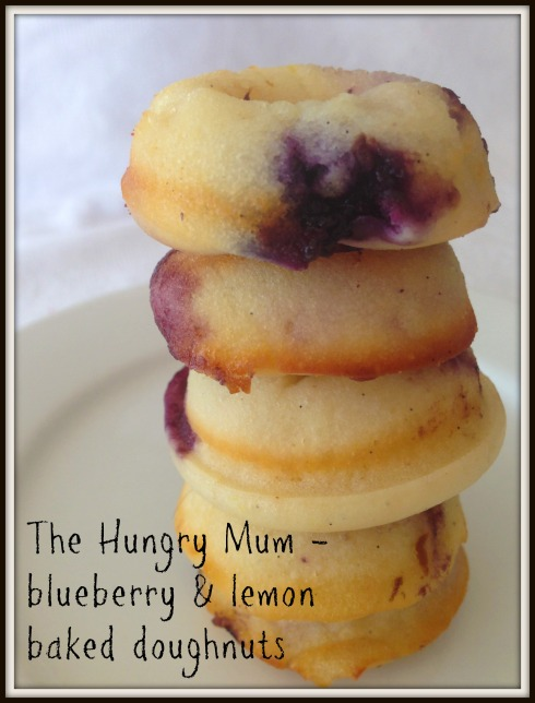 The Hungry Mum - blueberry & lemon baked doughnuts