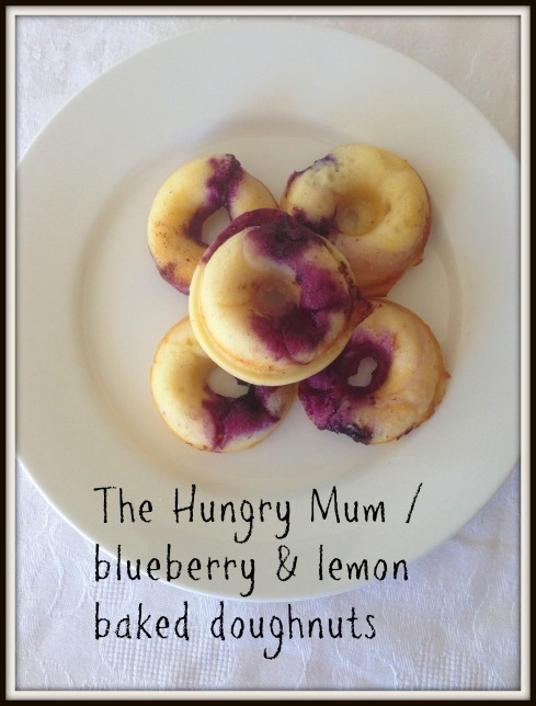 The Hungry Mum  blueberry & lemon baked doughnuts