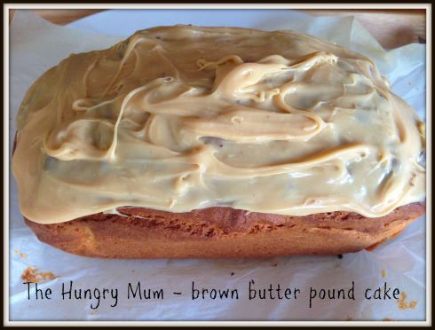 The Hungry Mum - brown butter pound cake