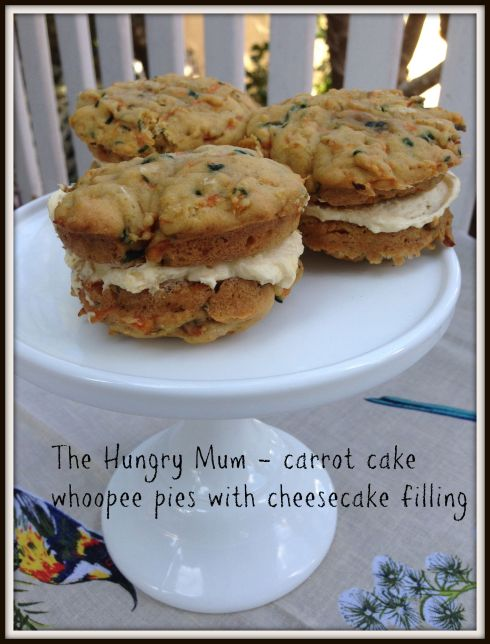 The Hungry Mum - carrot cake whoopee pies with cheesecake filling