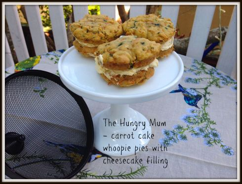 The Hungry Mum carrot cake whoopie pies with cheesecake filling