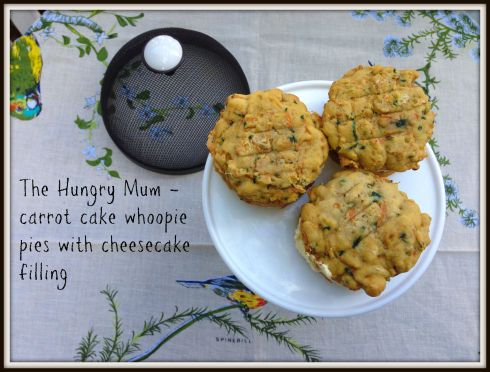 The Hungry Mum - carrot cake whoopie pies with cheesecake filling