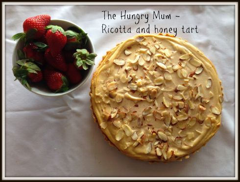 The Hungry Mum - Ricotta and honey tart