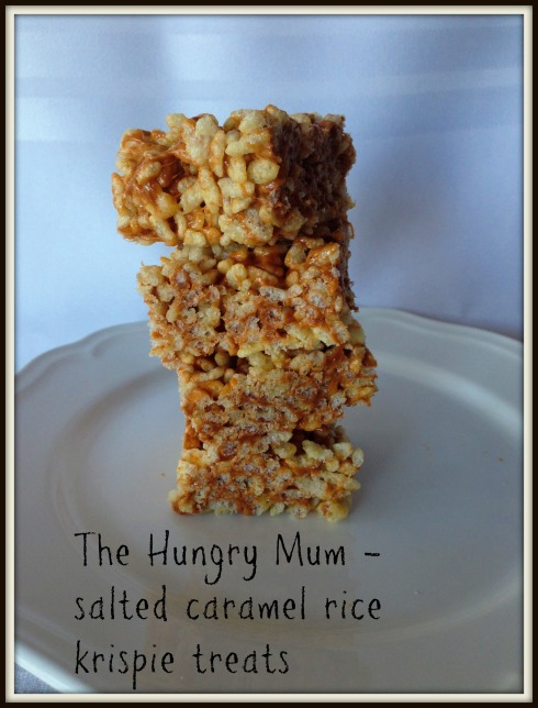 The Hungry Mum salted caramel rice krispie treats