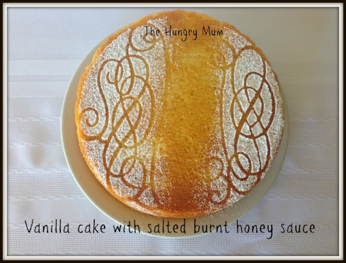 Vanilla cake with salted burnt honey sauce