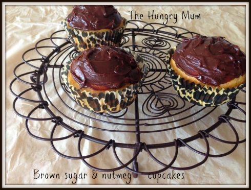 Brown sugar & nutmeg cupcakes
