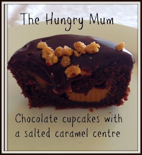 Chocolate cupcakes with a salted caramel centre The Hungry Mum