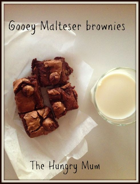 Gooey Malteaser brownies - The Hungry Mum
