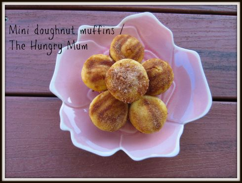 Mini doughnut muffins. The Hungry Mum