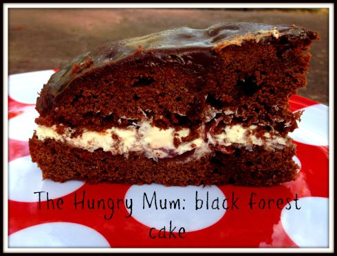 The Hungry Mum black forest cake
