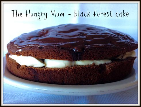 The Hungry Mum - black forest cake