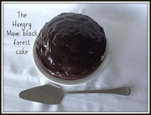 The Hungry Mum Donna Hay black forest cake