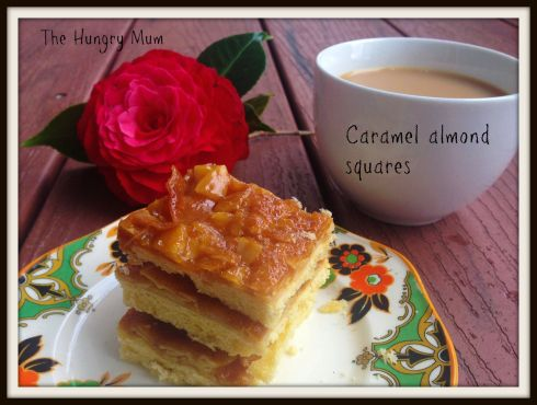 Caramel almond squares The Hungry Mum