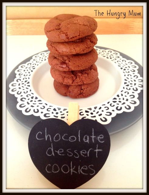 chocolate dessert fudge cookies. The Hungry Mum
