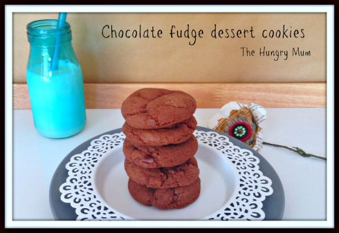 Chocolate fudge dessert cookies... The Hungry Mum