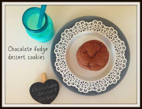 Chocolate fudge dessert cookies