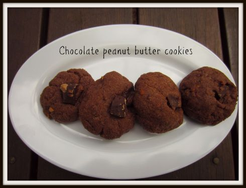 Chocolate peanut butter cookies. The Hungry Mum