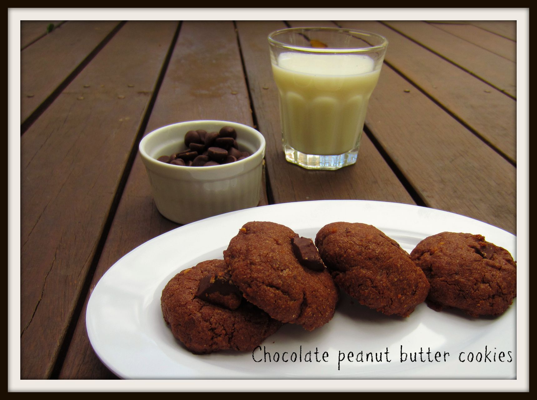 Chocolate peanut butter cookies (no chill, no roll dough)   the hungry ...