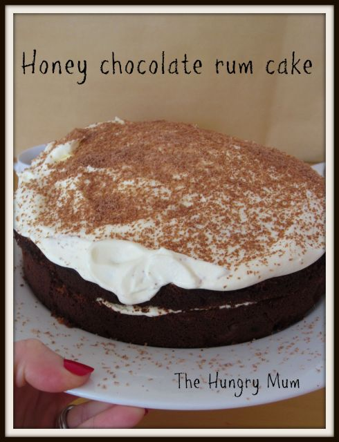 Honey chocolate rum cake- The Hungry Mum