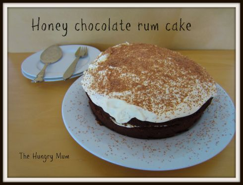 Honey chocolate rum cake