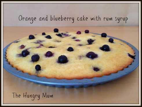 Orange and blueberry cake with rum syrup  The Hungry Mum