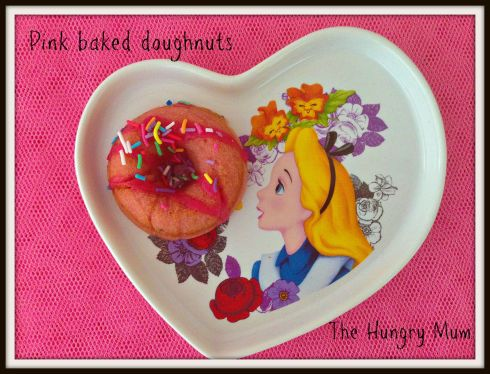 Pink baked doughnuts. The Hungry Mum