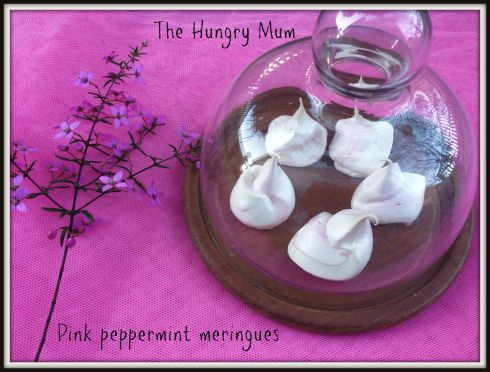 Pink peppermint meringues The Hungry Mum