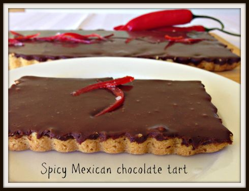 Spicy Mexican chocolate tart