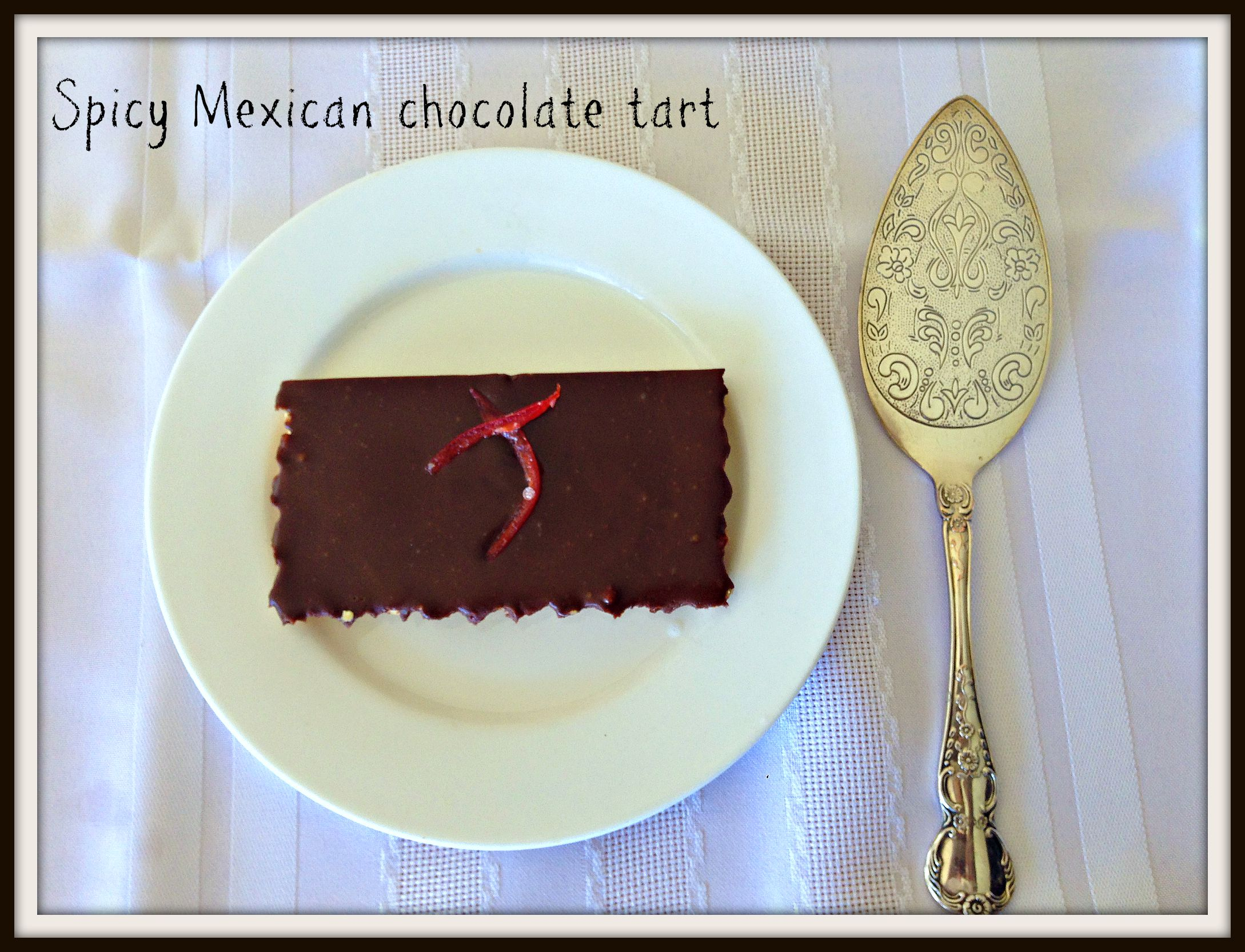 Chilli chocolate cake with tequila